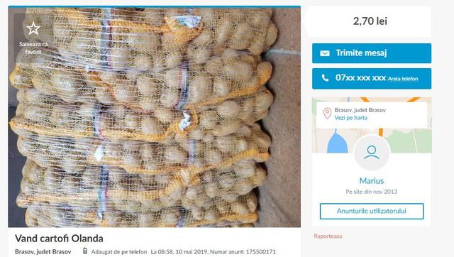 Explozia prețurilor la cartofi în R.Moldova. Cât costă în alte țări europene (Cotidianul.md)