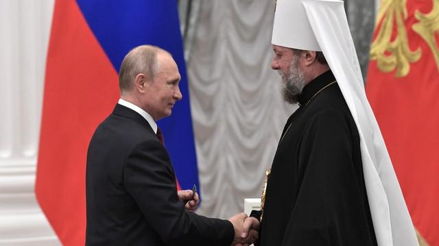 "Mitropolitul Vladimir, decorat de Vladimir Putin cu ""Ordinul Prieteniei"""