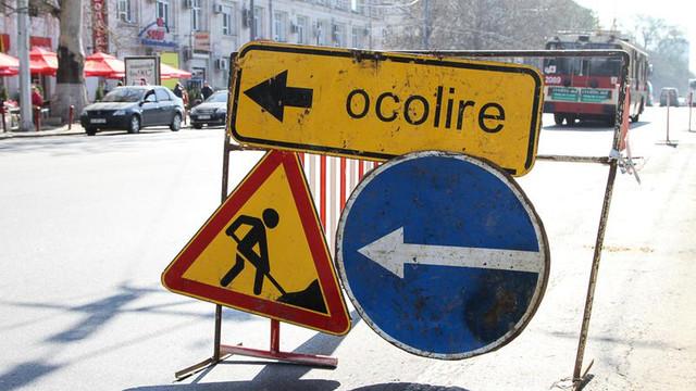 Suspendarea parțială a traficului rutier pe unele străzi din Chișinău