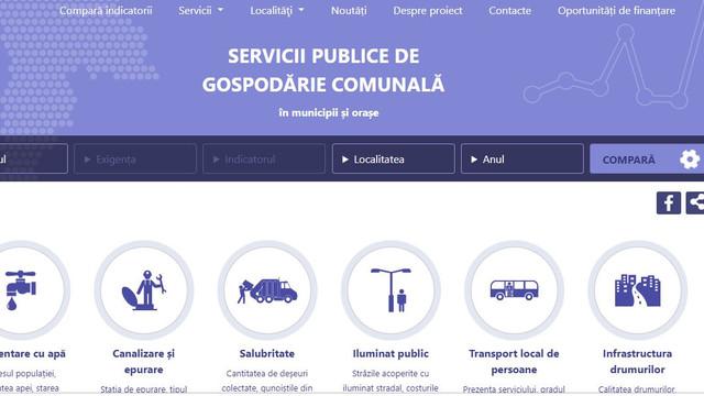 A fost lansată prima platformă web dedicată serviciilor publice comunale