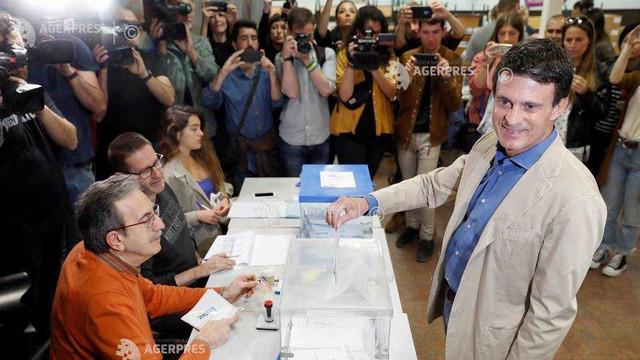 Fostul premier francez Manuel Valls a pierdut cursa pentru primăria Barcelonei