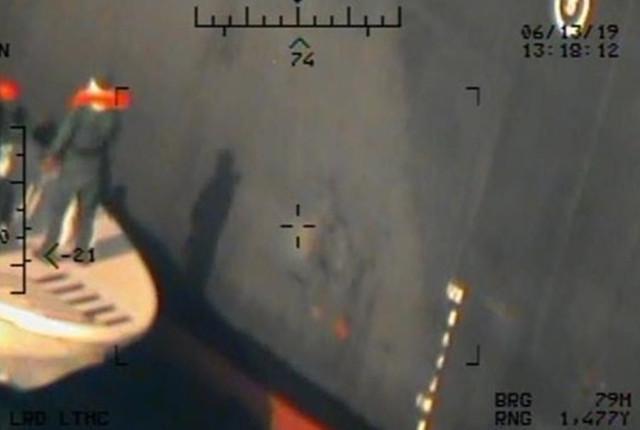 FOTO/VIDEO | Washingtonul publică imagini care ar incrimina Iranul de atacurile celor două petroliere, în Marea Oman