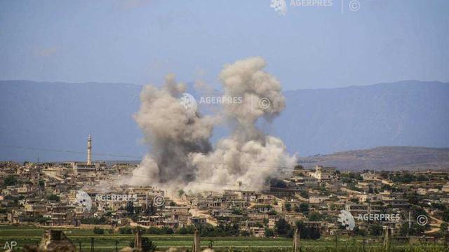 Siria: Cel puţin 28 de morţi în bombardamente ale regimului sirian şi ale aliatului rus (ONG)