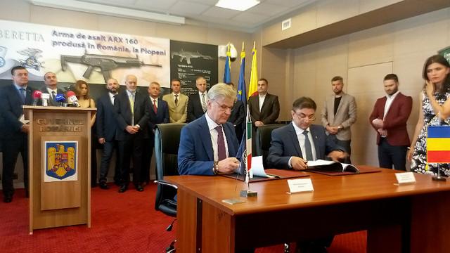 Parteneriat româno-italian pentru producerea de arme de asalt Beretta. Astăzi a fost semnată o înțelegere