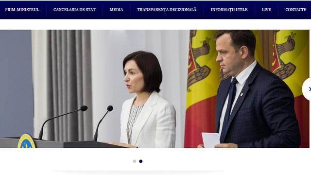 Site-ul oficial al Guvernului a fost modificat: Maia Sandu, premier al Republicii Moldova