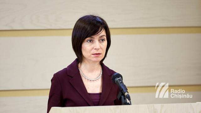Maia Sandu: După hotărârea Comisei de la Veneția, judecării Curții Constituționale trebuie să plece