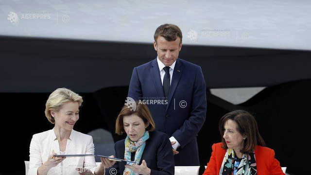 """Acord-cadru semnat de Germania, Franța și Spania pentru construirea avionului """"invizibil"""" european"""