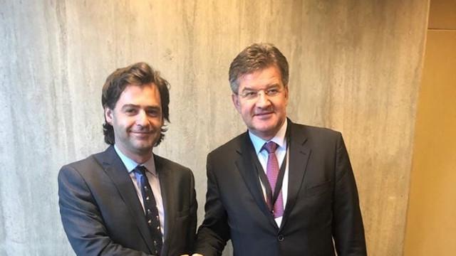Nicu Popescu s-a întâlnit cu ministrul de externe al Slovaciei și președintele în exercițiu al OSCE, Miroslav Lajčák