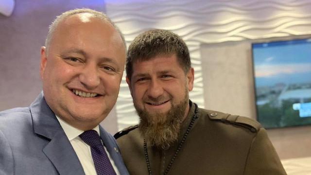 """Igor Dodon s-a făcut prieten cu Ramzan Kadîrov. Liderul din Cecenia îl consideră o persoană """"plăcută"""""""