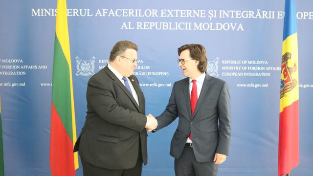 Linas Linkevicius, la Chișinău: Lituania este gata să acorde asistență tehnică pentru reforme în domeniul justiției, lupta împotriva corupției și pentru domeniul securității