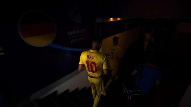 FOTBAL   Echipa învingătoare a României a fost întimpinată după miezul nopții de suporteri