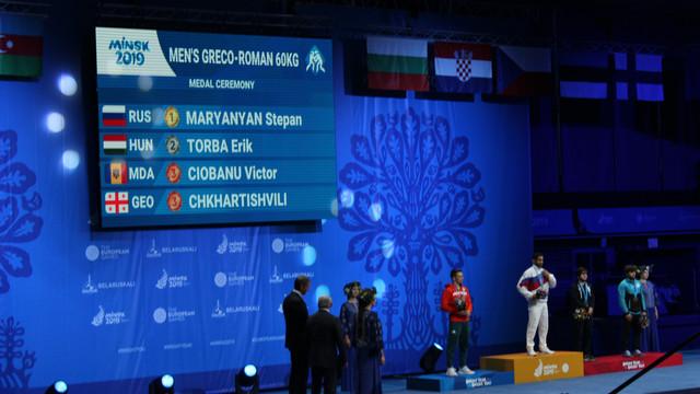Luptătorul Victor Ciobanu a obținut bronzul la Jocurile Europene de la Minsk