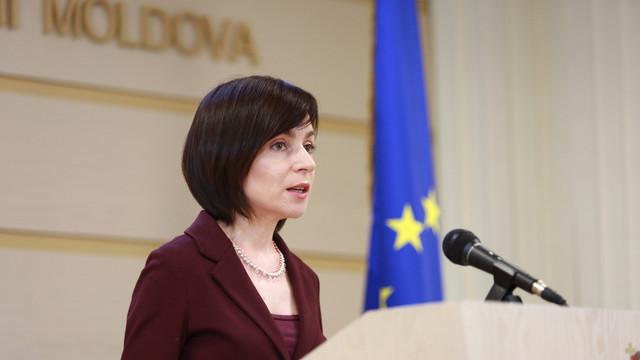 """Maia Sandu: """"Veniți, în fața Parlamentului, din toată țara pentru a arăta lumii că Republica Moldova a învins, iar dictatura a fost dărâmată"""""""