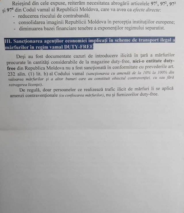 DOC   Informații privind evaziunea fiscală prin intermediul magazinelor duty free, desecretizate de Maia Sandu. Cât a valorat volumul mărfurilor introduse ilegal