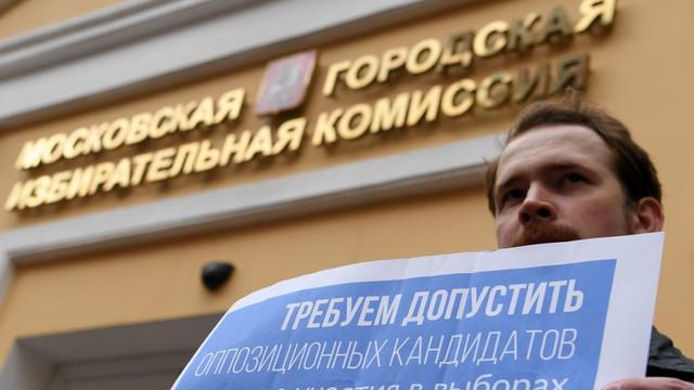 Rusia | 27 de candidaţi au fost excluşi din cursa pentru Parlamentul Moscovei