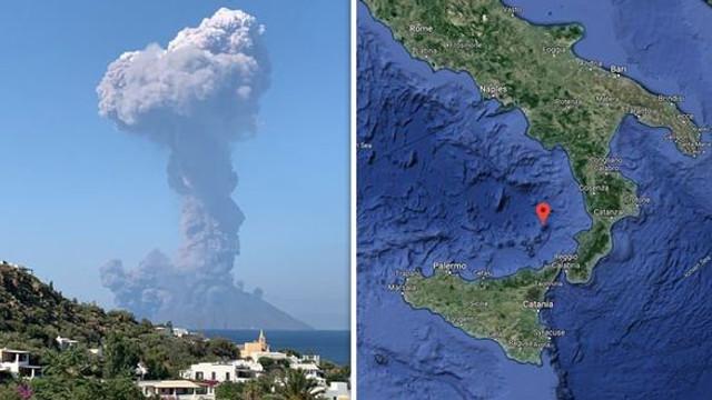 Italia | Erupția unui vulcan de pe insula Stromboli i-a făcut pe turiști să se arunce în mare, de frică (video)