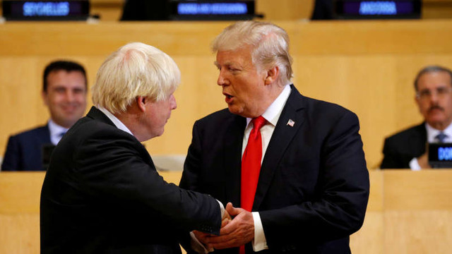 SUA | Donald Trump l-a felicitat Boris Johnson pentru postul de premier al Marii Britanii: Brexitul, o oportunitate de ne-egalat
