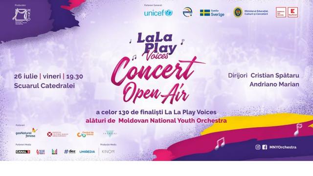 Moldovan National Youth Orchestra și Corul La La Play, format din 130 de copii, vor prezenta un concert la Chișinău