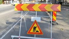 Trafic suspendat pe o stradă din centrul Chișinăului, în legătură cu lucrările de reabilitare a centrului istoric