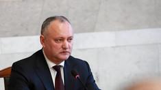 Igor Dodon va convoca de urgență Consiliului Suprem de Securitate