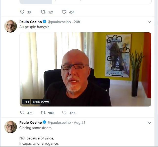 Scriitorul brazilian Paulo Coelho a prezentat scuze publice Franței pentru declarațiile președintelui Jair Bolsonaro