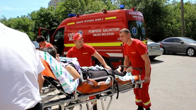 O noua intervenție un echipaj aero-medical SMURD Iași