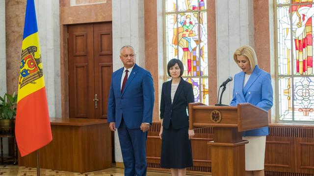Irina Vlah a depus jurământul în calitate de membru al Guvernului