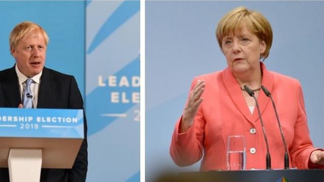 Boris Johnson va avea, miercuri, o întâlnire oficială cu Angela Merkel. Discuții despre schimbarea prevederilor acordului Brexit