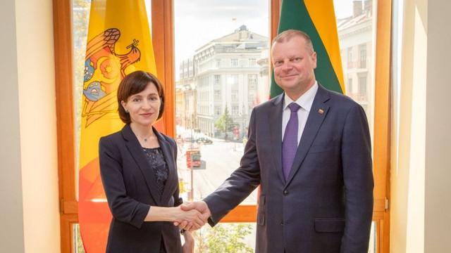 Parcursul European al Republicii Moldova a fost discutat de către premierul Maia Sandu și omologul său lituanian, Saulius Skvernelis