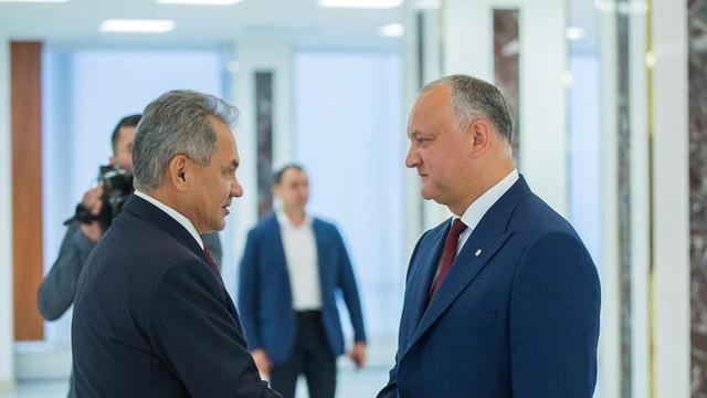 """Dodon și PSRM sărbătoresc, împreună cu ministrul rus Șoigu, așa-zisa """"zi de eliberare a Moldovei de fasciști"""""""