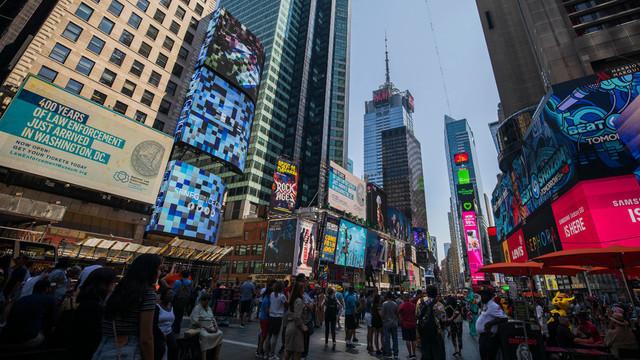Panică în Times Square după ce un motor a dat rateu