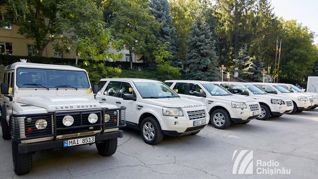 FOTO | Șase autovehicule noi au intrat în dotarea Poliției de Frontieră și Serviciului Vamal