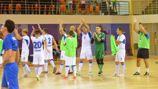 Echipa Dinamo Chișinău a obținut primul punct în Liga Campionilor la futsal