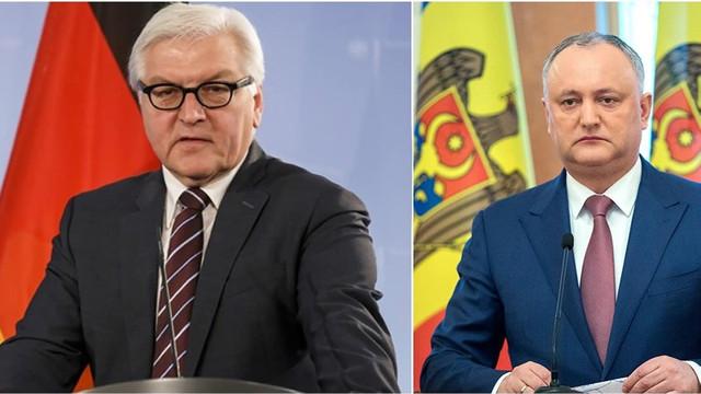 Igor Dodon   Președintele Germaniei a afirmat că reglementarea conflictului transnistrean este imposibilă fără a avea relații bune cu Rusia