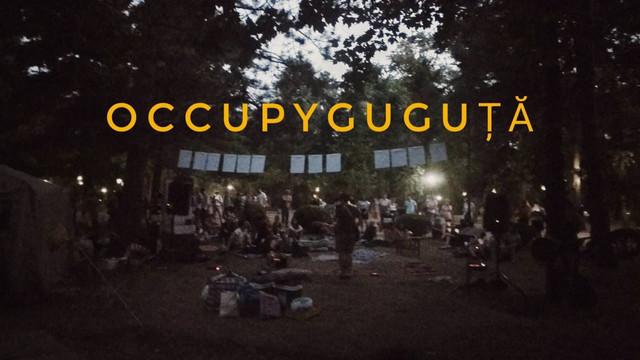 Mișcarea Occupy Guguță a organizat un protest la rondul de lângă monumentul lui Ștefan cel Mare