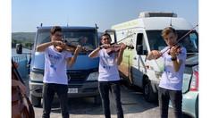 Podul plutitor de la Molovata a găzduit un concert de muzică clasică