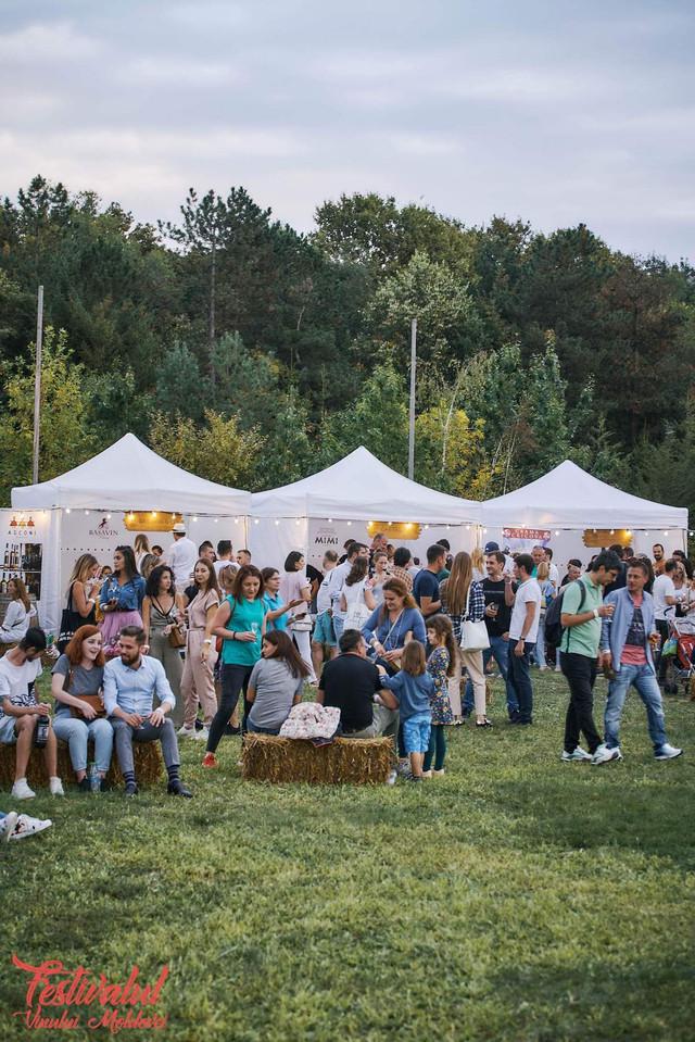 FOTO | Peste 200 de vinuri, 8 concerte și un covor moldovenesc tradițional de dimensiuni record la Festivalul Vinului Moldovei din România
