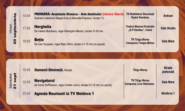 Începe Reuniunea Teatrelor Naționale. În PROGRAM se regăsesc spectacole ale celor mai prestigioase trupe din România, Serbia și R.Moldova