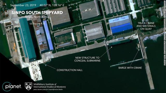 Imaginile din satelit surprinse deasupra unui șantier naval din Coreea de Nord: ce armă construiesc nord-coreenii
