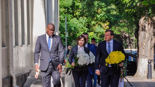 """Maia Sandu, la evenimentul de comemorare a victimelor atentatelor din SUA din 11 septembrie 2001: """"Terorismul nu este o problemă individuală, ci una comună, care ne vizează pe fiecare dintre noi"""""""