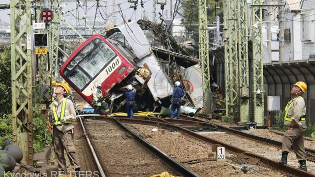 VIDEO | Cel puţin 35 de răniţi în urma coliziunii dintre un tren şi un camion lângă Tokyo