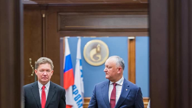 Igor Dodon a discutat la Moscova cu Alexei Miller despre semnarea unui nou contract pentru furnizarea gazelor