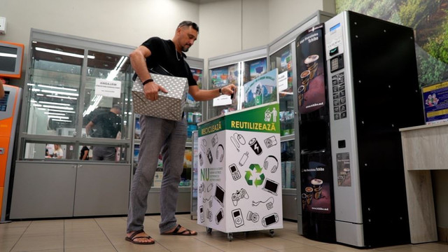 În Chișinău au fost instalate până acum 80 de puncte de colectare a e-deșeurilor