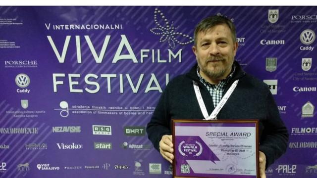 """Un cineast din R.Moldova a obținut premiul """"Cel mai bun regizor """" la VIVA Film Festival 2019, Sarajevo"""