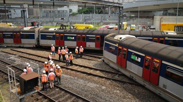 Tren deraiat în Hong Kong: Mai mulți oameni au fost răniți
