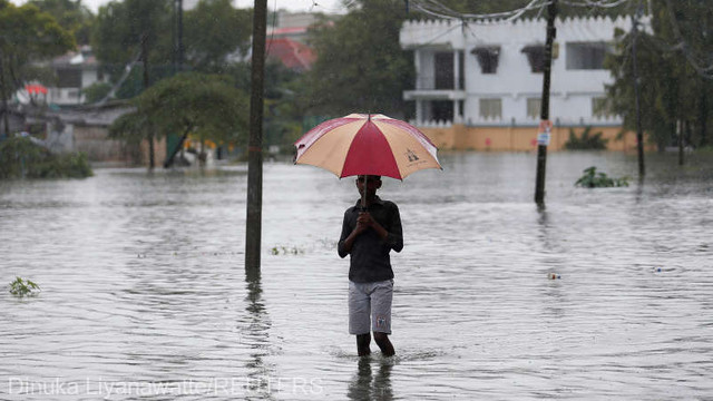 Sri Lanka - Peste 100.000 de persoane, afectate de ploile abundente