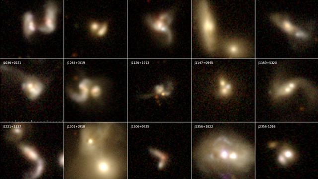 Trei găuri negre supermasive, în curs de coliziune la aproximativ 1 miliard de ani lumină distanță