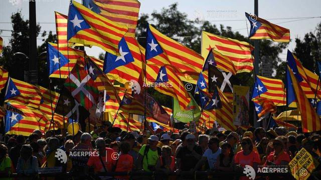 Manifestaţie test pentru separatiştii catalani