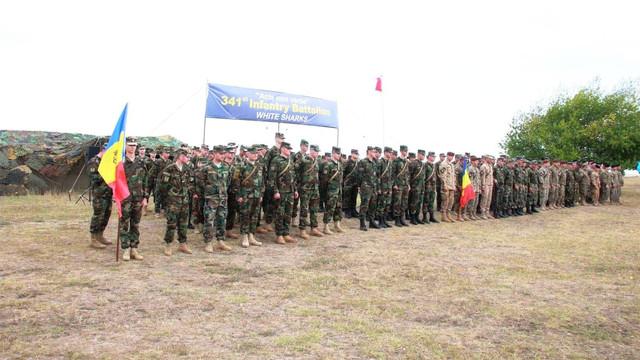 Un contingent al Armatei Naţionale se află la centrul de instruire Babadag din România
