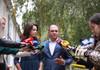 Ion Ceban, la secția de votare. Ce a declarat candidatul PSRM la funcția de primar al Capitalei